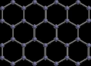 visualización de la estructura molecular del grafeno