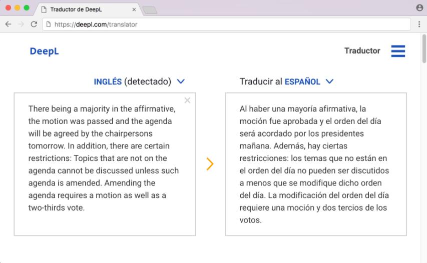 DeepL traducción español